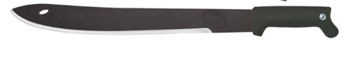 Condor Tool And Knife 18-Inch Ultrablac2 Jungle Saber Machete, Black Handle, Leather Sheath