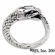 Snake Eating Its Tail Sterling Silver Ring, 10 (Snake Tail Ring compare prices)