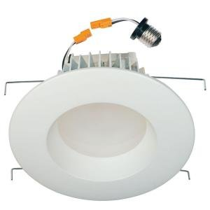 QTY 4 / Commercial Electric 6 In. White Recessed LED Retrofit Trim (T85)
