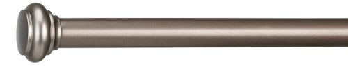 Umbra Capella 88-Inch-by-120-Inch Drapery Rod, Pewter