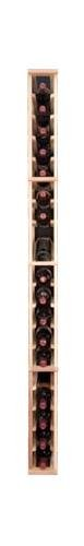 Designer Series 19 Bottle 1 Column Individual With Display Wine Rack Finish: Unstained, Wood Type: Premium Redwood front-590179