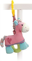Gund Pinkaboo Pulldown Activity Pony Teether 6.5 Inches - 1