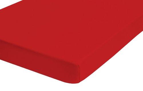 Castell 77113/176/041 Lenzuolo con angoli 140 x 200 cm - 160 x 200 cm, colore: Rosso