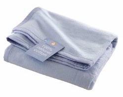 Hippy Chick Pale Blue Baby Blanket (Pram size) (Pram size: 75cm x 100cm)