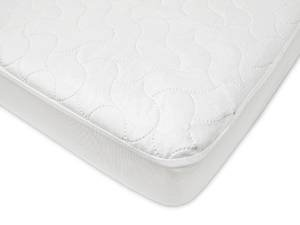 American Baby Company Waterproof Fitted Quilted Crib and Toddler Protective Pad Cover, White (2 pack)