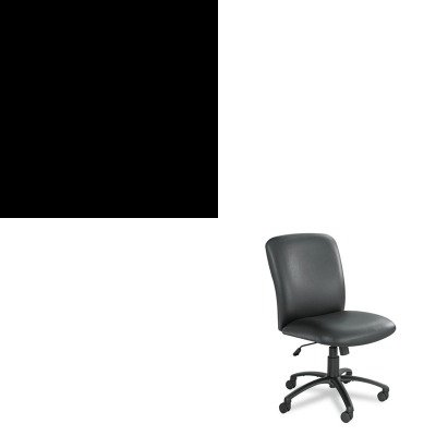 Kithon514Ppsaf3490Bv - Value Kit - Safco Uber Series Big Amp;Amp; Tall Swivel/Tilt High Back Chair (Saf3490Bv) And The Hon Company Hon 510 Series 4-Drawer Vertical File, Black (Hon514Pp) front-1037944