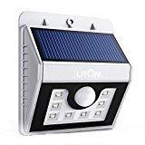 Litom 8 helle LED drahtlose Solarleuchten