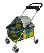 Yellow Plaid Posh Pet Stroller