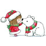 Penny Black 459879 Snow Kiss Mounted Rubber Stamp, 2.5 by 4-Inch