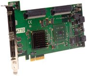 Atto EXPRESSPCI UL5D - dual-channel; Ultra320 SCSI; PCIe; host adapter; Wired; PCI-E; Ultra320 SCSI; 640 Mbit/s; RoHS; PC (EPCI-UL5D-0R0)