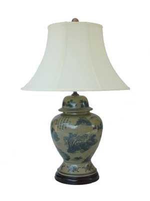 Best+Quality+Price+Value+-+32%22+Large+Ming+Ceramic+Ginger+Jar+Porcelain+Table+Lamp+-+JCO-X922