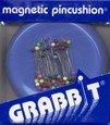 GrabbIt magnetic pin cushion and pins light blue