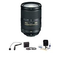 Nikon 18-300Mm F/3.5-5.6G Ed If Af-S Dx Vr Ii Lens, Usa Warranty - Bundle - With 77Mm Filter Kit (Ultra Violet, Thin Circular Polarizer, Neutral Density 2), Cleaning Kit, Capkeeper Leash