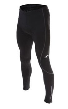 Mens More Mile black thermal cycle tights MM1358