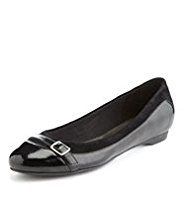 M&S Collection Leather Toe Cap Pumps with Insolia®