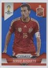 Sergio Busquets #180/199 Spain (Trading Card) 2014 Panini Prizm World Cup Blue Prizms #174