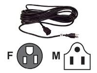 Belkin 25Ft Ac Extension Power Cable (Ac Male To Ac Female) Black