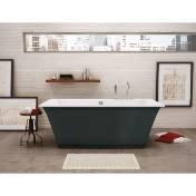 Maax 105742000019 Optik Freestanding Bathtub with Thunder Grey Apron 105742000019