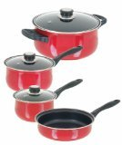 Sunbeam Newbrook 7-Piece Cookware Set, Red
