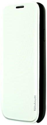 ZENUS Galaxy S4 SC-04E ケース Walnutt Flip Jacket オプティックホワイト フリップタイプ W2064GS4