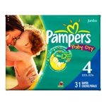 Pampers Baby Dry Diapers, Size 4, 31 Count