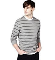 Crew Neck Striped Sweat Top