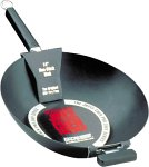 Joyce Chen 22-0040, Pro Chef 14 Inch Flat Bottom Wok with Excalibur Non-stick coating