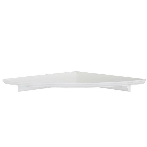 Woodland Products CC12W Classic 12-Inch Corner Shelf, White Finish