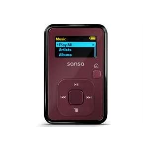 SanDisk Sansa Clip+ 4 GB MP3 Player (Red)