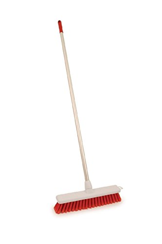 14-soft-colour-coded-food-hygiene-brush-red-sweeping-broom-aluminium-handle