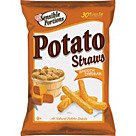 Sensible Portions Potato Straws; Smooth Cheddar, 1-Oz. Bag, 8/Case