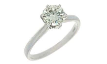 Moissanite 18ct White Gold 1.00 Carat Solitaire Ring - Zoe Kay Jewellery