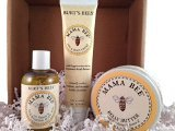 Burt's Bees Mama Bee New Mom Gift Set with Gift Box - Nourishing Body Oil, Belly Butter and Leg and Foot Creme