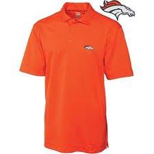 NFL Officially Licensed Denver Broncos Mens Dry-Fit Orange Polo Shirt Size (Medium M) by NFL