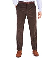 Sartorial Winter Weight Cotton Rich Active Waistband Corduroy Trousers