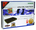 Siemens Ss2604 4-Port Ethernet Dsl/Cable Router With Print Server