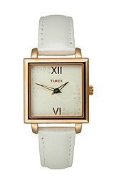 Timex Fashion Collection Elegant Square Silver Dial Wome'Ns Watch #T2N124