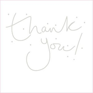 Pack of 8 Glitter Finished Thank You Cards