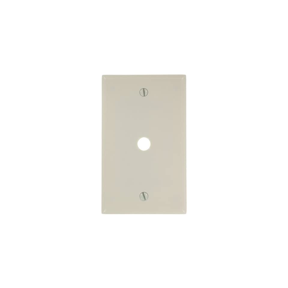 Leviton 88018 1 Gang 406 Inch Hole Device Telephone Cable Wallplate White Thermoset Standard Size Strap Mount Wall Plates Connectors