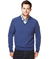 XS Blue Harbour Extrafine Pure Lambswool V-Neck Jumper