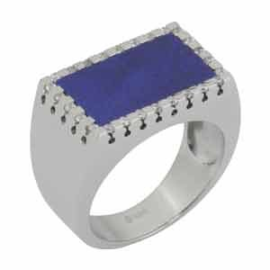 Silver Ring OR-273-Lapis