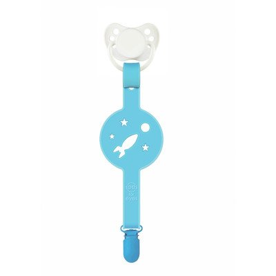 Paciplay Teethable Pacifier Holder Color: Blue