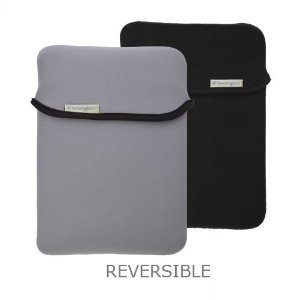 Reversible & Durable Neoprene Sleeve for the Apple iPad & iPad 2 - Black/Gray by Kensington Technology