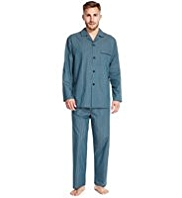 Revere Collar Striped Pyjamas