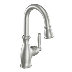 Moen 5985CSL Brantford Single Handle Pulldown Bar Faucet Classic Stainless Steel