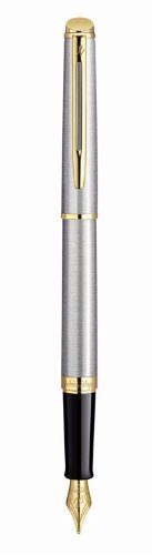 Waterman Hemisphere Essential Stainless Steel Gold Trim Fine Point Fountain Pen - S0920310