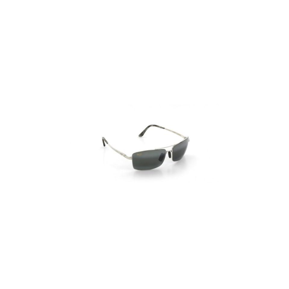 Maui Jim Black Rock Sunglasses in Silver/Neutral Grey