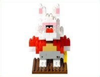 Alice in Wonderland rabbit busy Tokyo Disneyland White Rabbit nanoblock Tokyo Disney Sea japan import