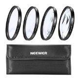 Neewer NEW 4-Piece 37mm Close-Up MACRO Lens Kit +1 +2 +4 +10