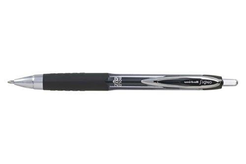 Uni-ball Signo Bold RT UMN-207-10 - Bolígrafo (12 unidades), color negro